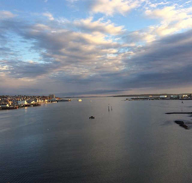 The view from the Casco Bay Bridge of gorgeous Casco Bay  Photo by Aimsel Ponti