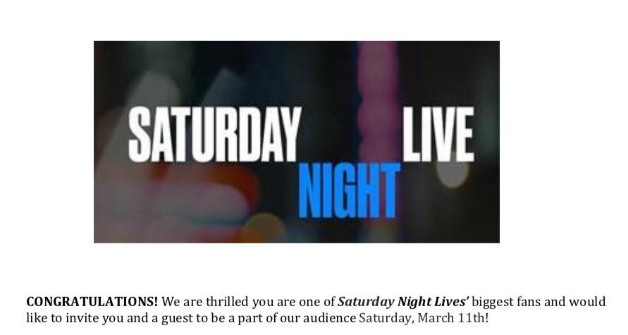 SNL 2017 Win Notification