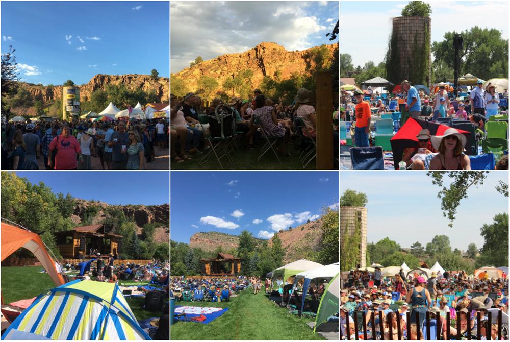 festival crowd collage