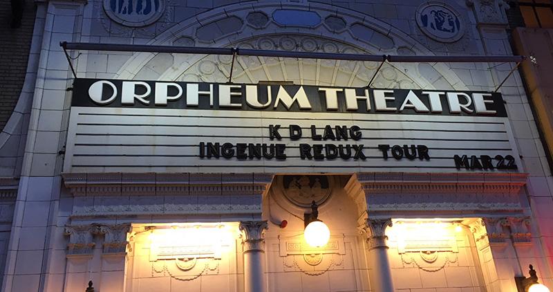 Orpheum Theatre, K.D. Lang