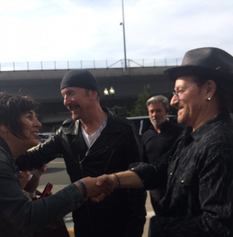 bono handshake with ALP