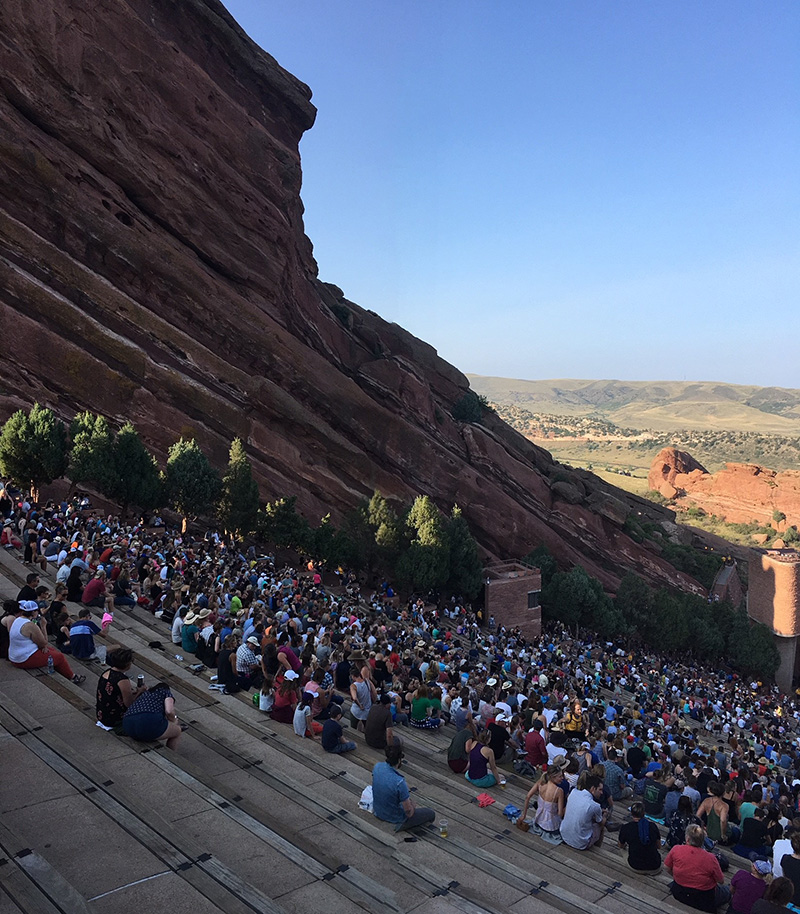 Red Rocks long shot side view